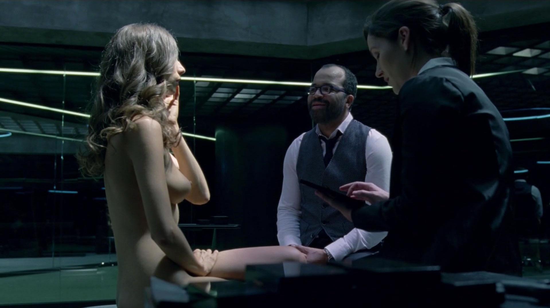 Angela Sarafyan nude - Westworld s01e01 (2016)