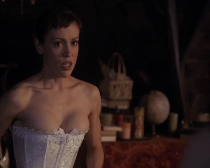 chick from charmed naked