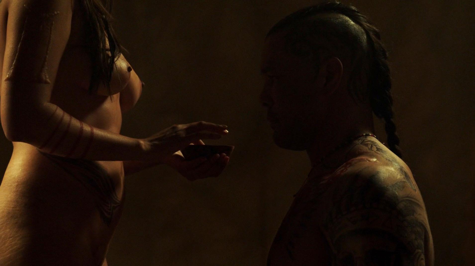 Lili Simmons sexy, Drea Garcia nude, Trinity Wright nude - Banshee s03e02 (2015)