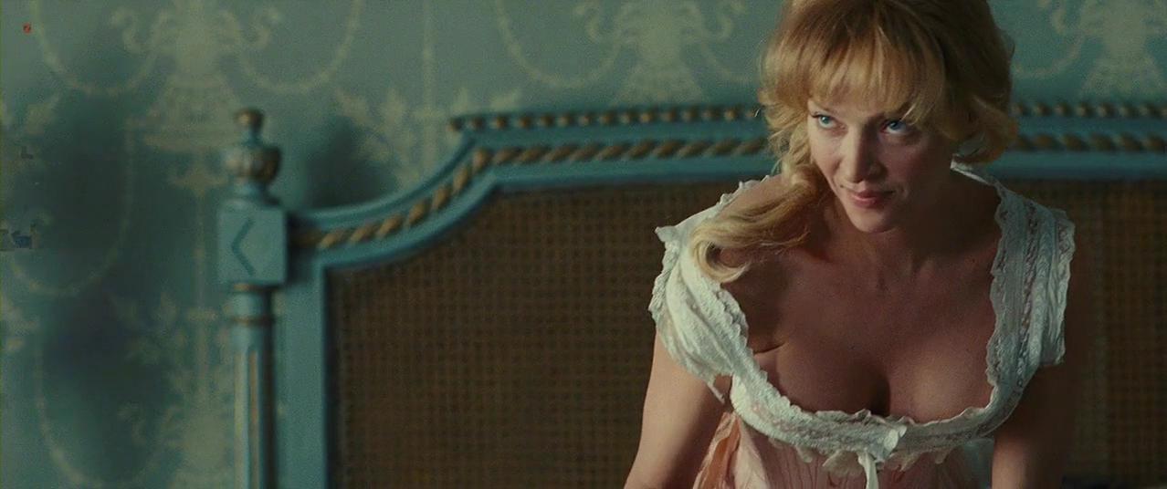 Uma Thurman nude - Bel Ami (2012)