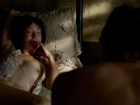 Molly Parker nude - Deadwood s02e01 (2005)