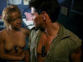 Linnea Quigley nude - Creepozoids (1987)