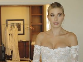 Hailey Baldwin sexy - Wedding Dress Fitting (2019)