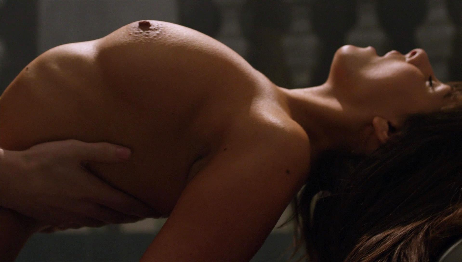 Women naked tan line