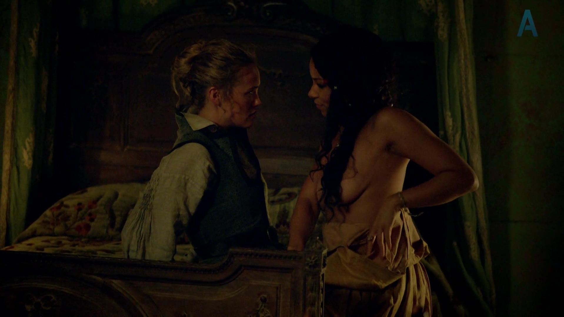 Jessica Parker Kennedy nude, Hannah New sexy - Black Sails s01e01 (2014)