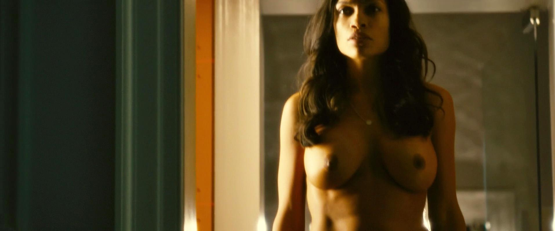 Nude Video Celebs  Rosario Dawson Nude - Trance 2013-5400
