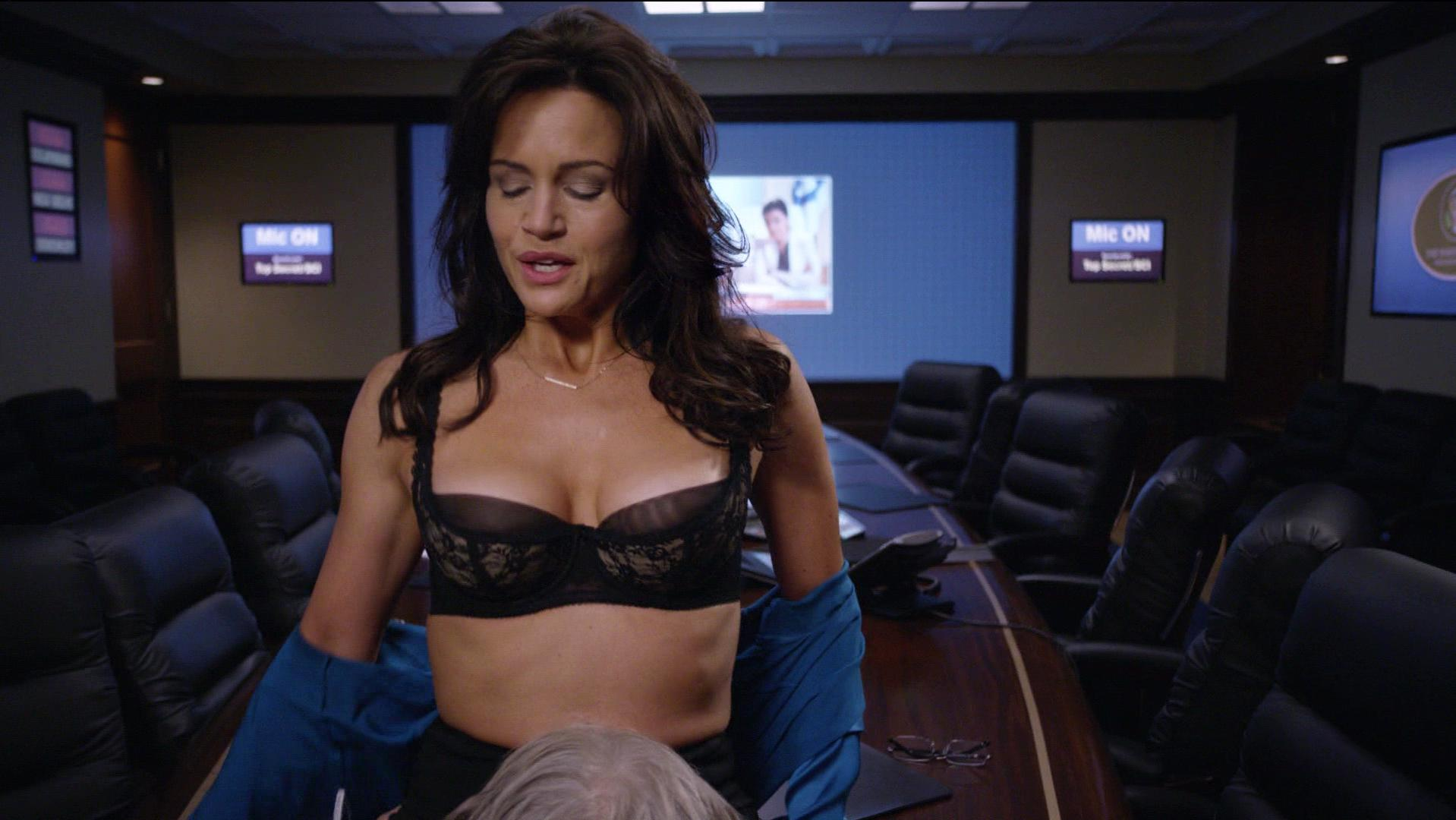 Nude Video Celebs  Carla Gugino Sexy - The Brink S01E10 -3792