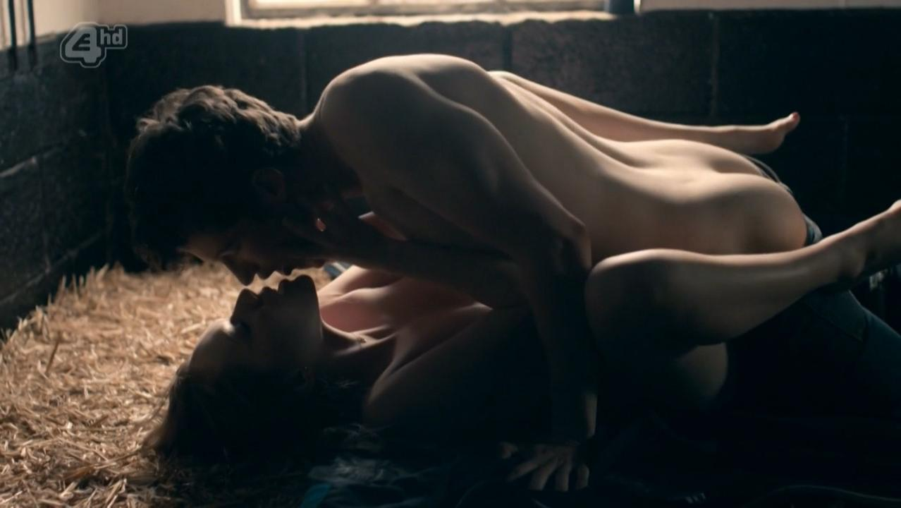 Charlotte Spencer nude - Glue s01e05-07 (2014)