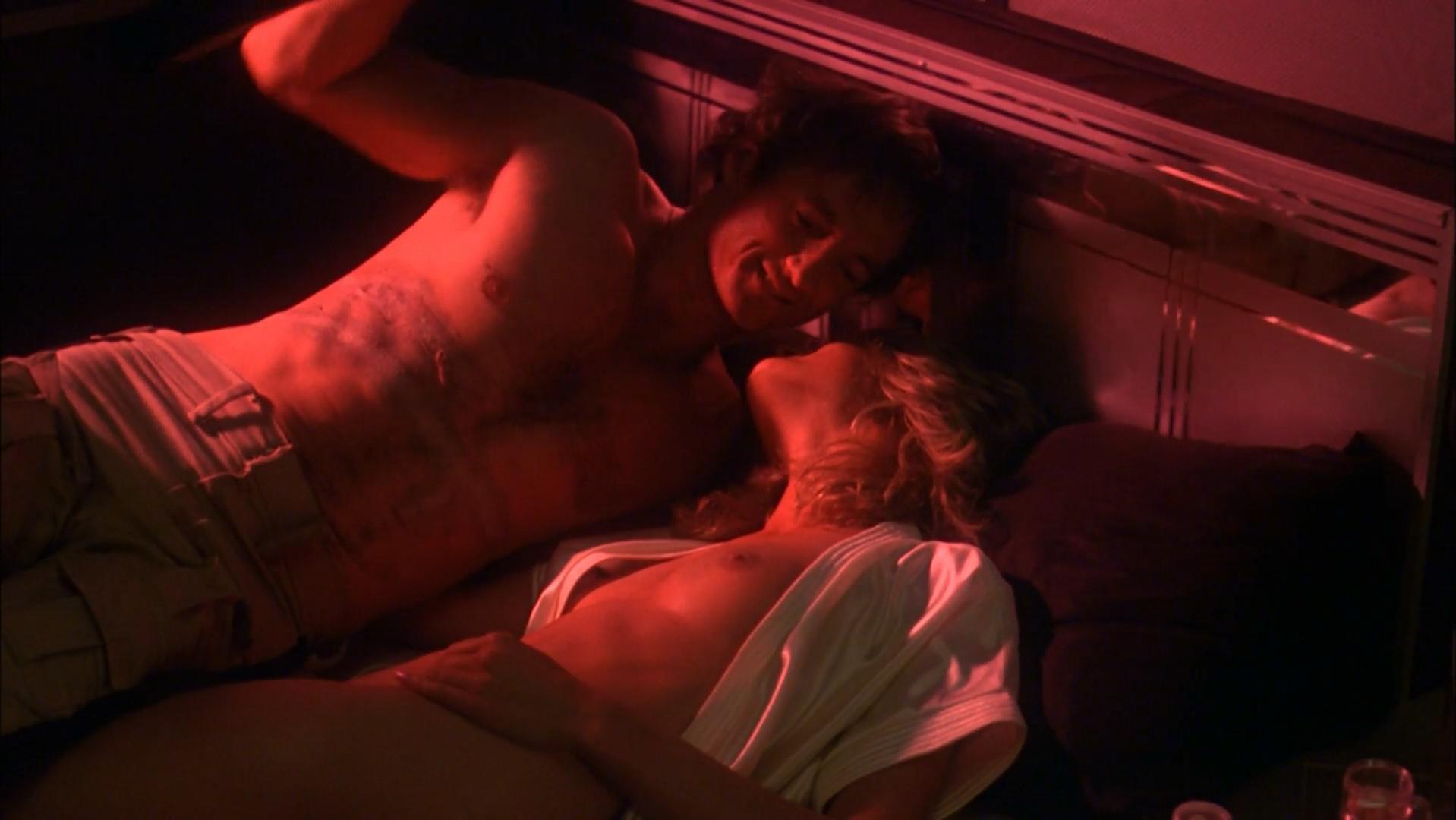 June Chadwick nude, Dawn Dunlap nude - Forbidden World (1982)