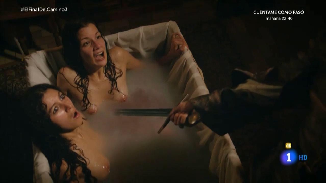 Inti El Meskini nude, Cristina Castano nude - El Final Del Camino s01e03 (2017)