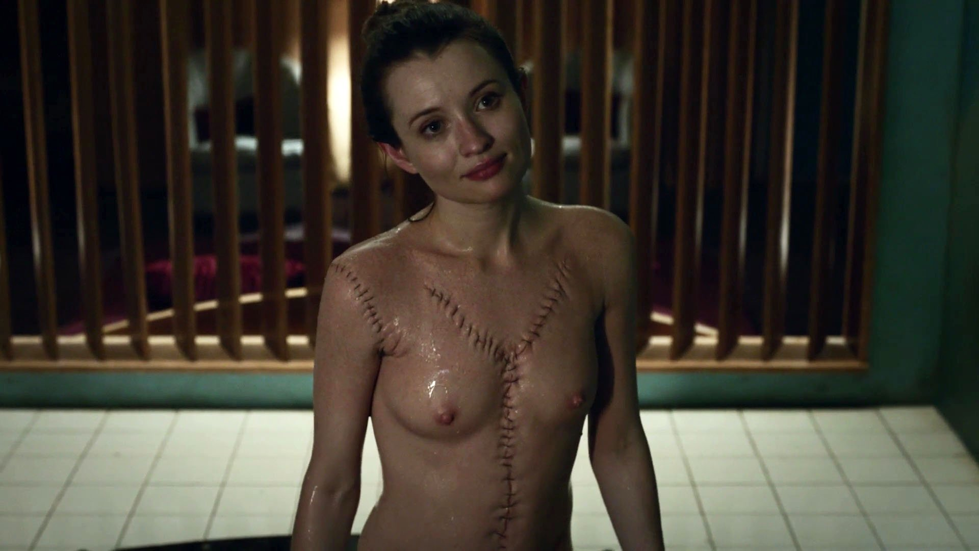 Emily Browning nude – American Gods s01e05 (2017)