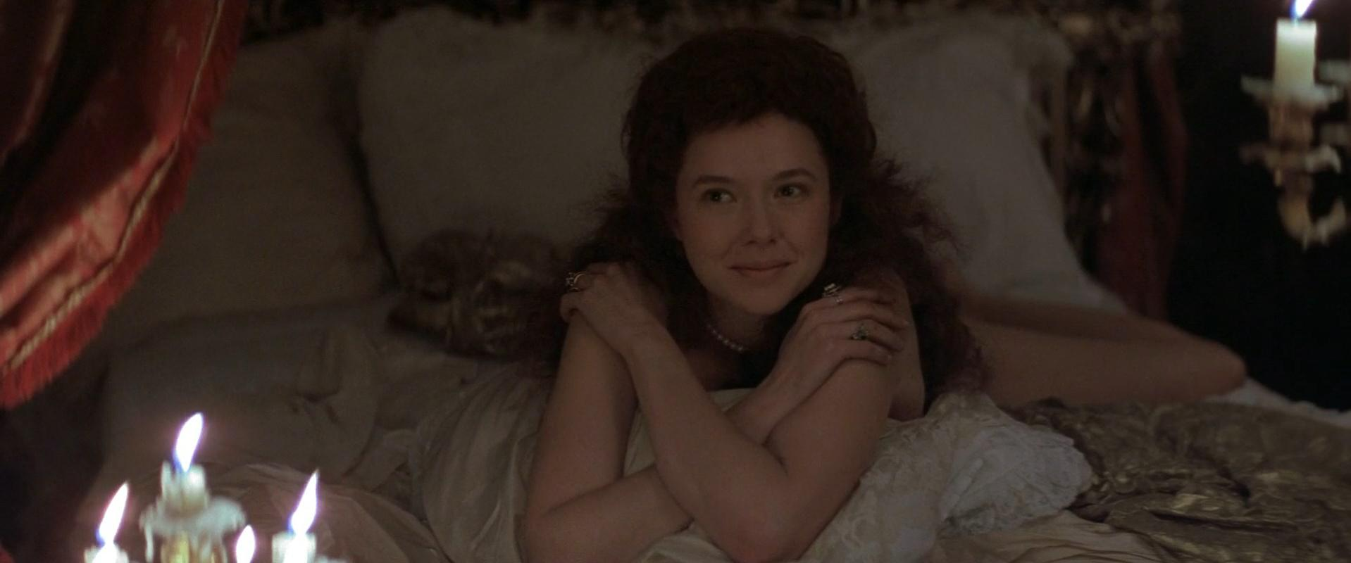 Annette Bening nude - Valmont (1989)