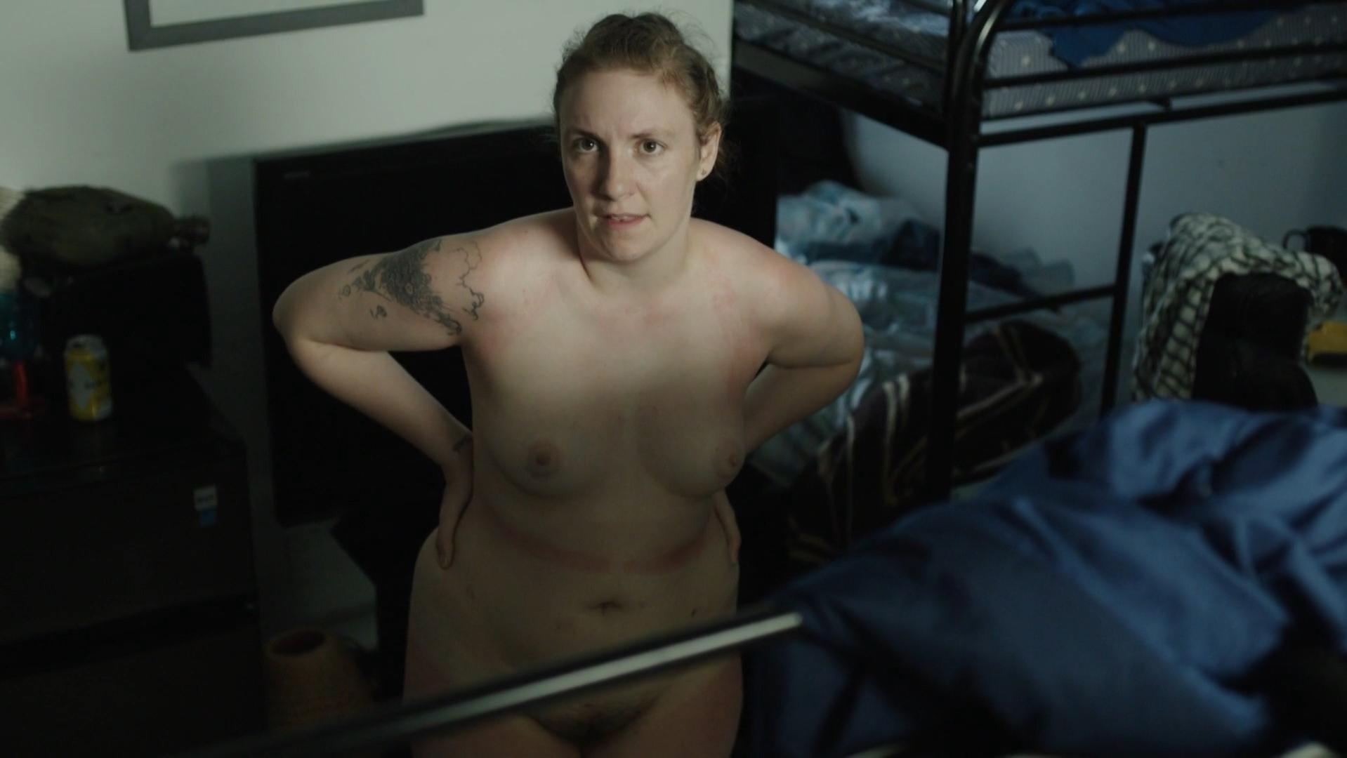 Nude Video Celebs  Lena Dunham Nude - Girls S06E01 2017-9701