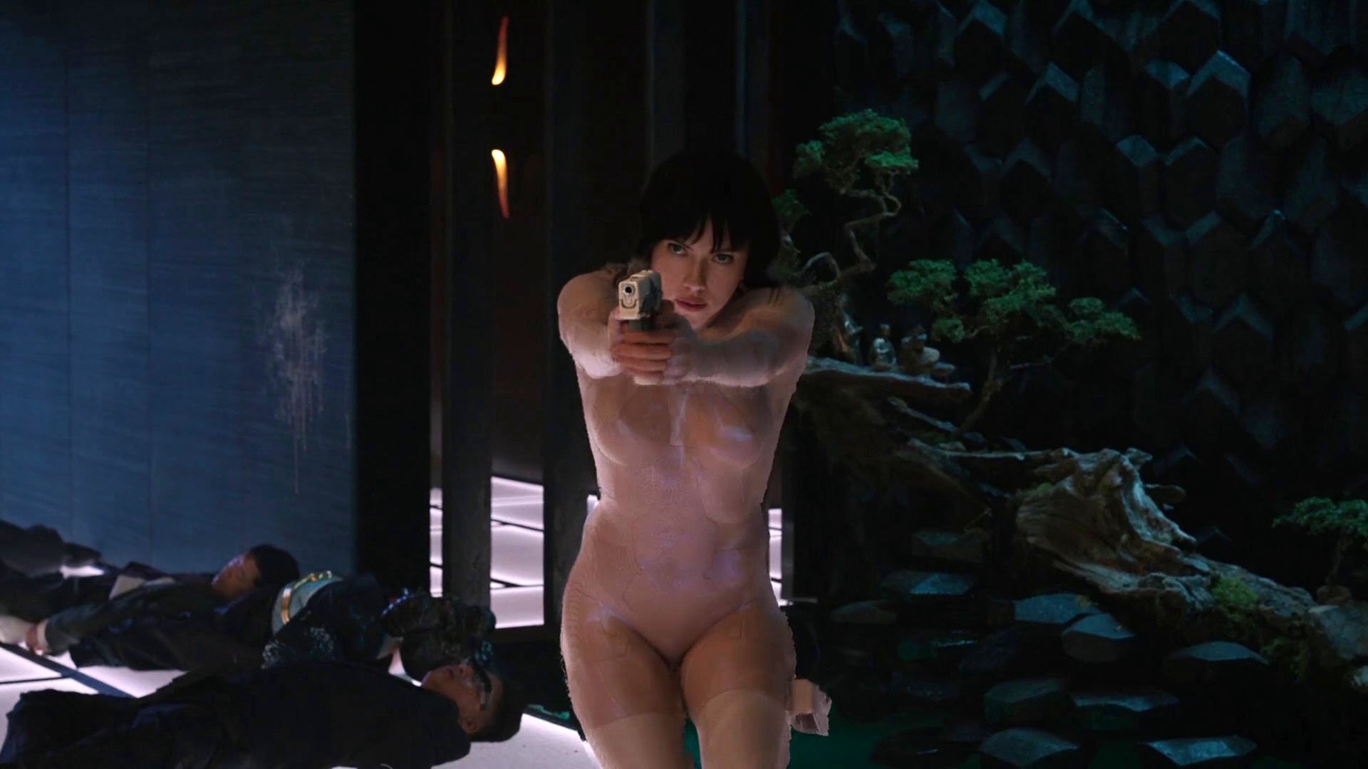 Nude Video Celebs  Scarlett Johansson Sexy - Ghost In The -1095
