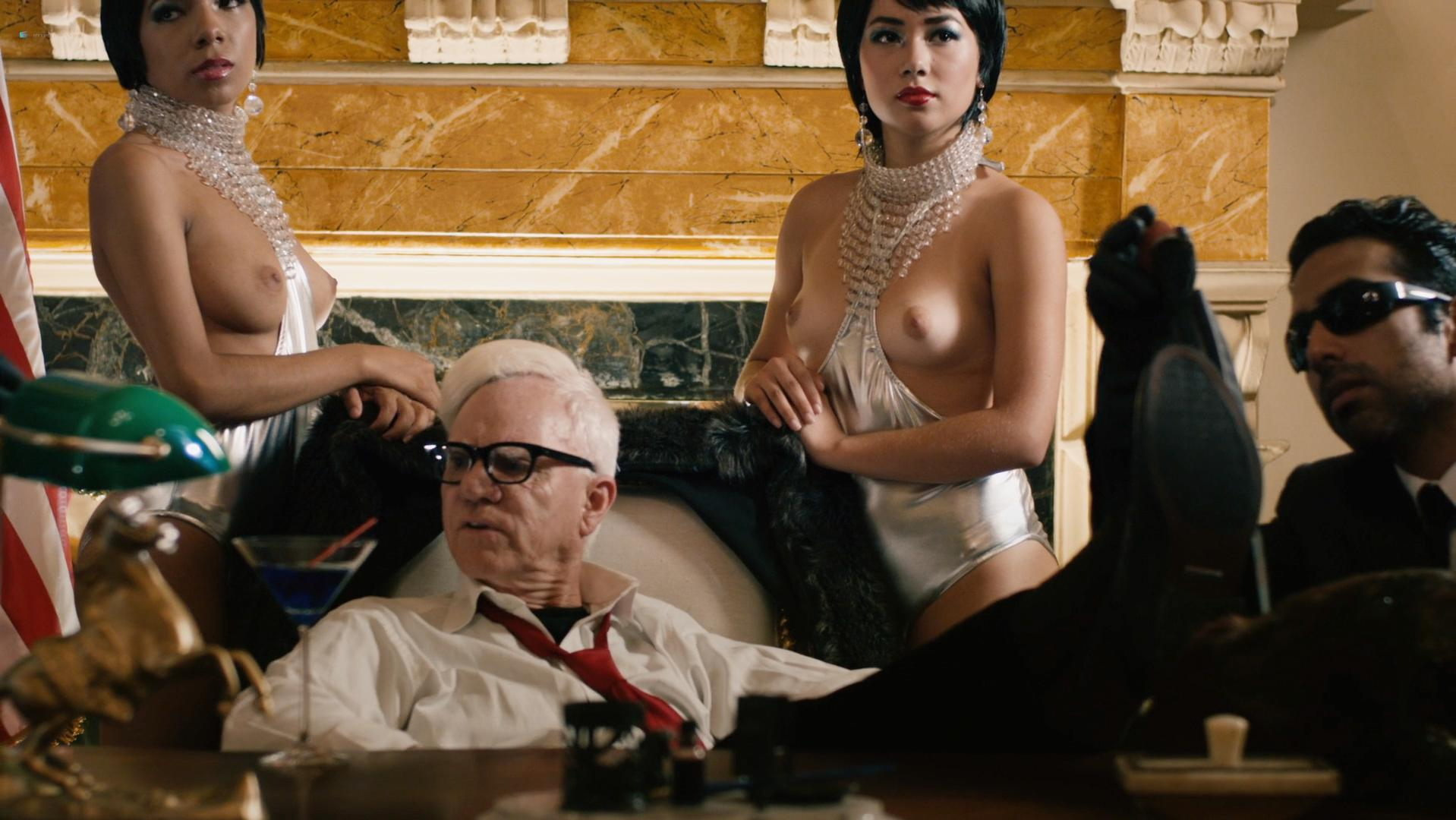 Anessa Ramsey nude, Marci Miller sexy, Leslie Shaw sexy - Death Race 2050 (2017)