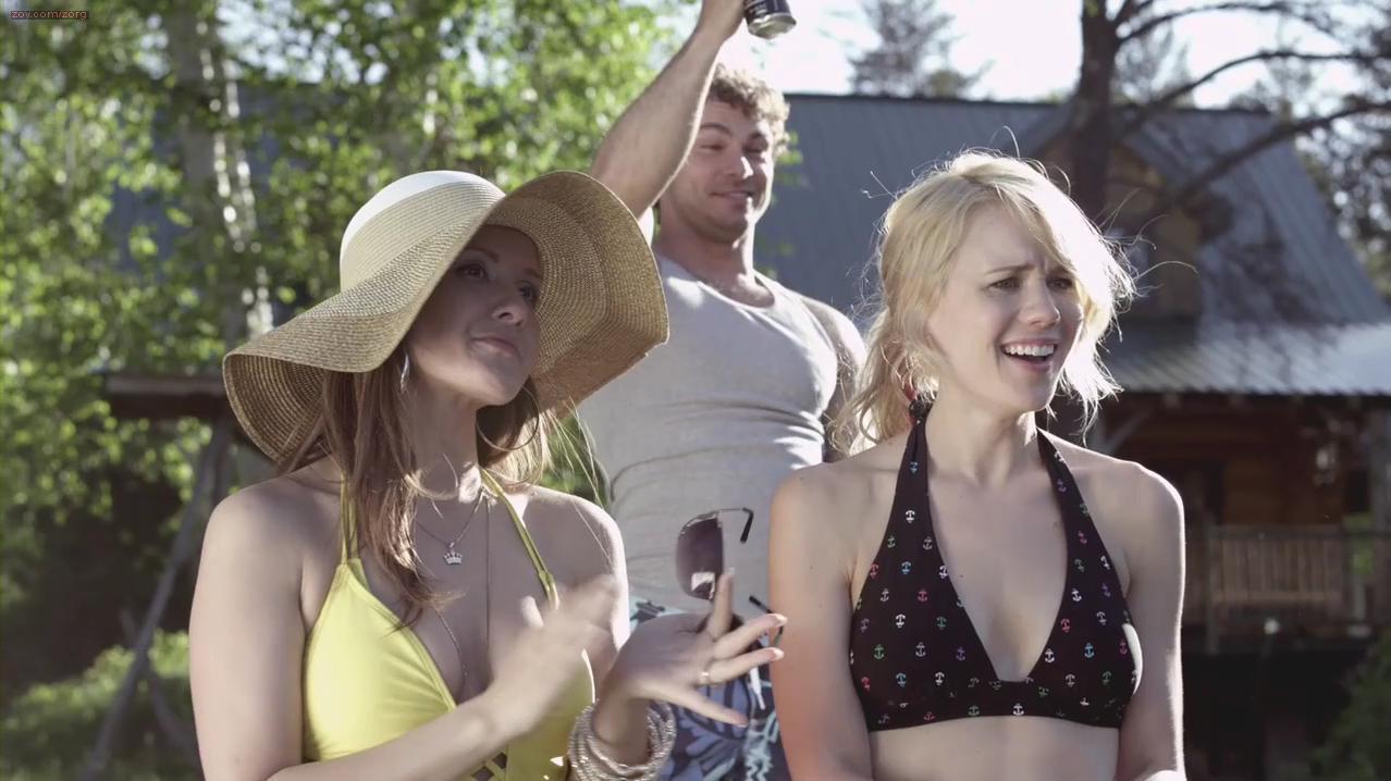 Kristen Hager sexy, Crystal Lowe sexy - A Little Bit Zombie (2012)