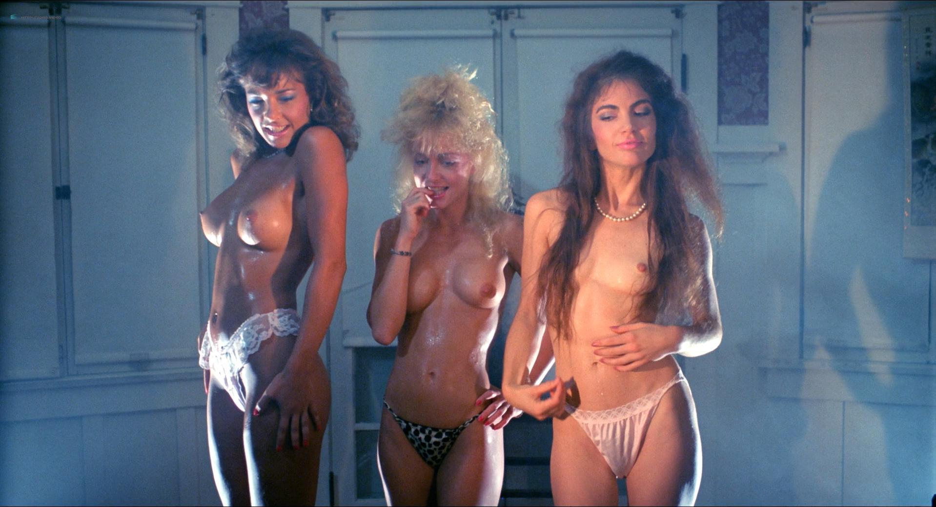 Michelle Bauer nude, Linnea Quigley nude, Brinke Steven nude - Nightmare Sisters (1988)