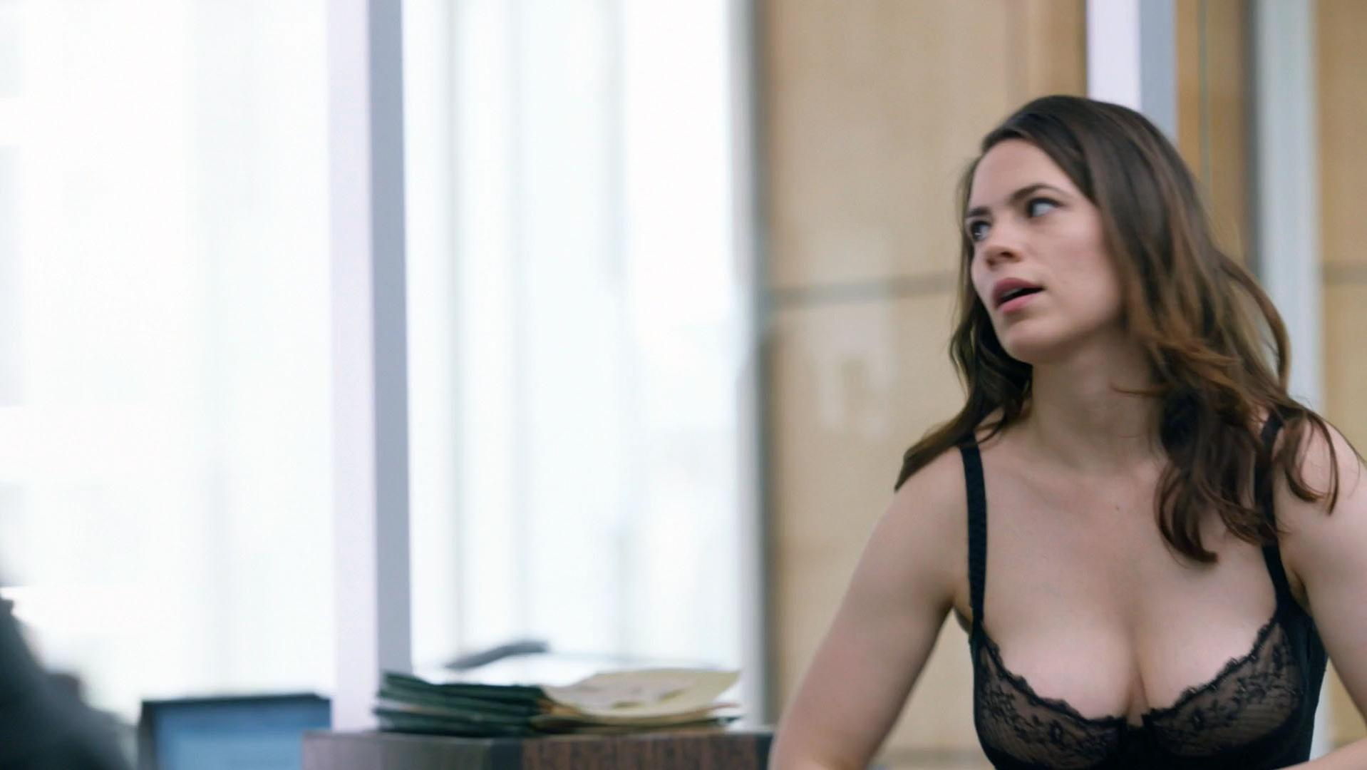 Hayley Atwell sexy - Conviction s01e01 (2016)